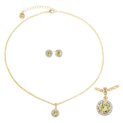 monet jewelry womens 2 pc yellow jewelry set jcpenney