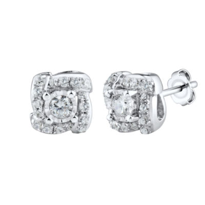 1/4 CT. T.W. Round White Diamond 10K Gold Stud Earrings