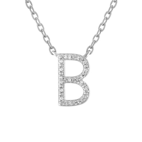 Womens Diamond Accent White Diamond Accent Sterling Silver Pendant Necklace