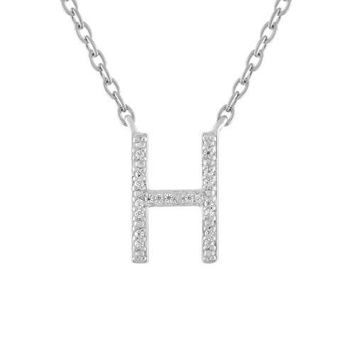 Womens Diamond Accent White Diamond Accent Sterling Silver Pendant Necklace