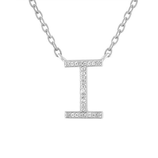 Womens Diamond Accent Genuine White Diamond Sterling Silver Pendant Necklace