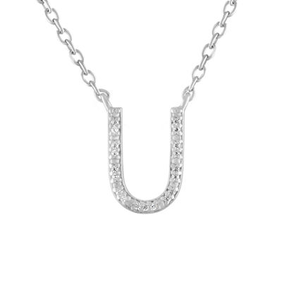 Womens Diamond Accent Genuine White Diamond Sterling Silver Pendant Necklace