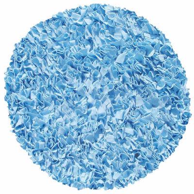 Rug Market Shaggy Raggy Rug- Light Blue