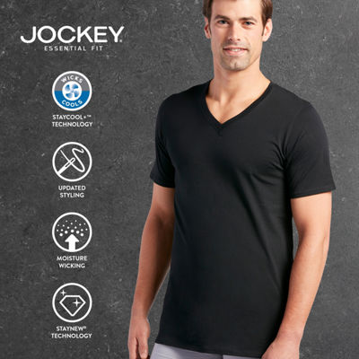 Jockey® 3-pk. Staycool Plus V-Neck T-Shirts