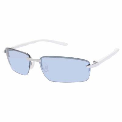 Arizona Mens Half Frame Rectangular Sunglasses