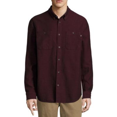 Vans Long Sleeve Button-Front Shirt