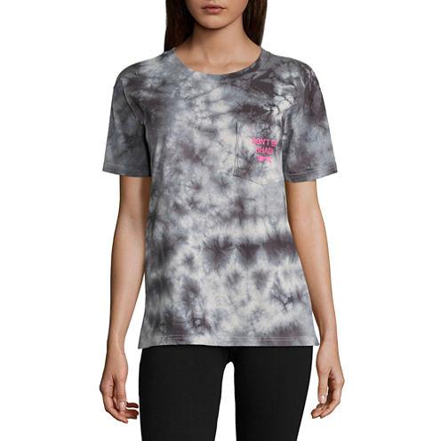"Flirtitude ""Don't be shady"" Graphic T-Shirt- Juniors"