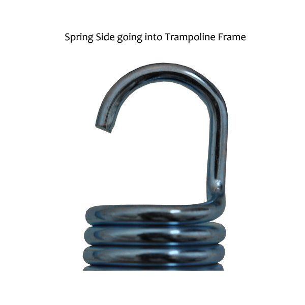 "3.5"" Trampoline Springs  heavy-duty galvanized  Set of 15 (spring size measures from hook to hook)"""