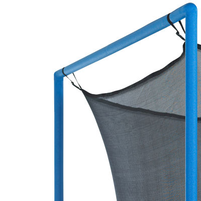 Upper Bounce Trampoline Replacement Enclosure Net-Fits For 8 FT. Round Frames- With Adjustable Straps- Using 4 Poles or 2 Arches - Net Only