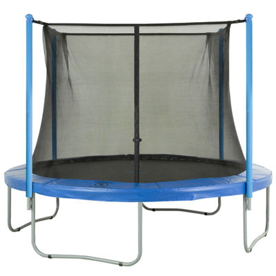 Upper Bounce Trampoline Replacement Enclosure Net-Fits For 10 FT. Round Frames- With Adjustable Straps- Using 4 Poles or 2 Arches - Net Only