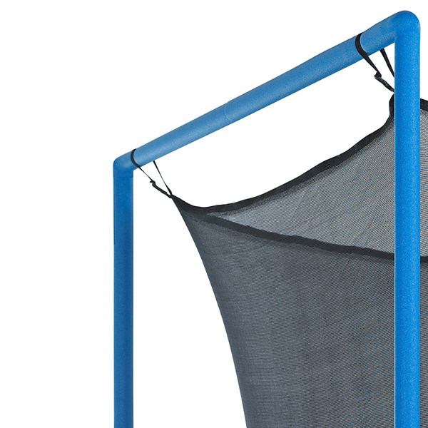 Upper Bounce Trampoline Replacement Enclosure Net-Fits For 14 FT. Round Frames- With Adjustable Straps- Using 8 Poles or 4 Arches - Net Only