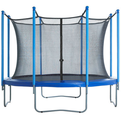 Upper Bounce Trampoline Replacement Enclosure Net-Fits For 15 FT. Round Frames- With Adjustable Straps- Using 8 Poles or 4 Arches - Net Only