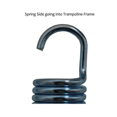Upper Bounce 6Inch Trampoline Springs- heavy-dutygalvanized- Set of 15 -spring size measures from hook to hook