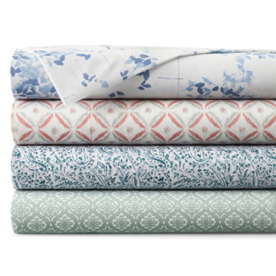 JCPenney Home™ 300tc 100% Cotton Ultra Soft Print Sheet Sets