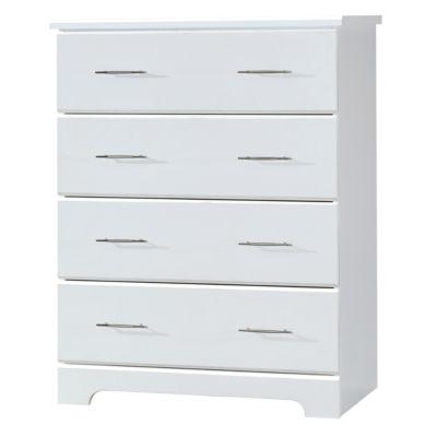 Storkcraft Brookside 4-Drawer Nursery Dresser - White