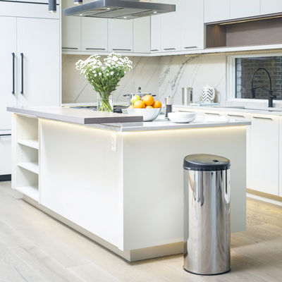 Modernhome Stainless Steel Touch-Free Motion Activated Trash Cans (set of 2)