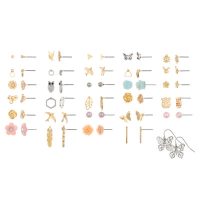 Decree Brass 1 Inch Stud Earrings