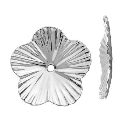 14K White Gold Flower Earring Jackets