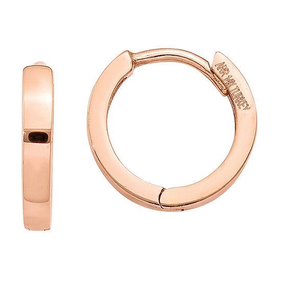 14K Rose Gold 11mm Round Hoop Earrings