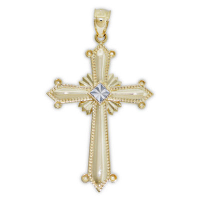Religious Jewelry Womens 14K Gold Cross Pendant