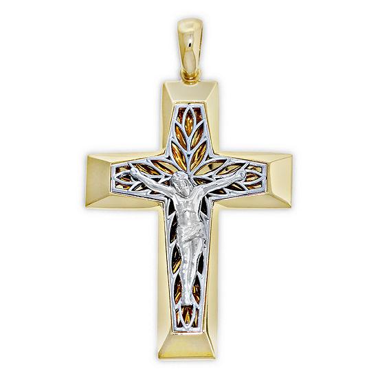 Mens 14K Gold Cross Pendant