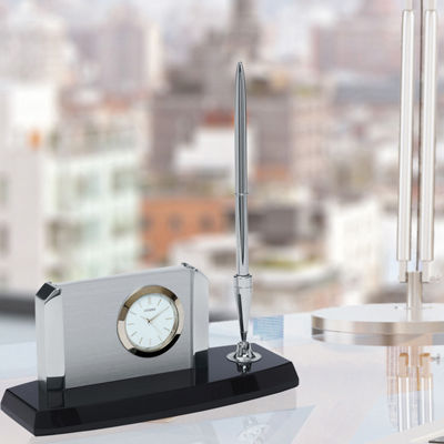 Citizen White Table Clock-Cc1004