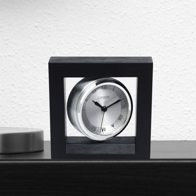 Citizen Silver Tone Table Clock-Cc1009