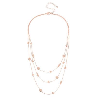 Worthington Womens Illusion Necklace