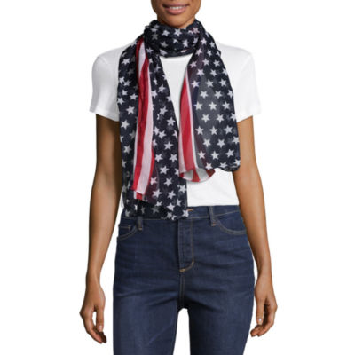 Mixit Americana Oblong Star Scarf