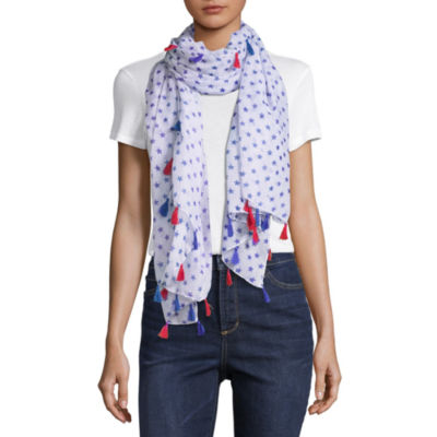 Mixit Blue Oblong Star Scarf