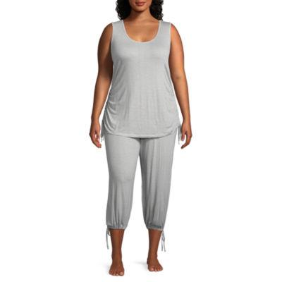 Ambrielle 2-pack Pant Pajama Set-Plus