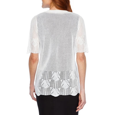 Perceptions Womens Elbow Sleeve Shrug
