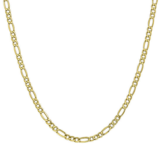 10K Gold 22 Inch Semisolid Figaro Chain Necklace
