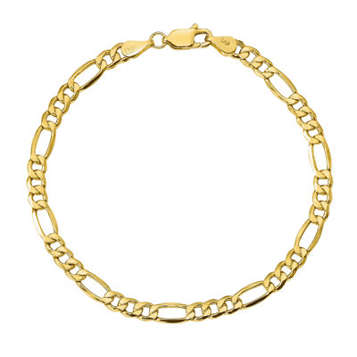 Womens 7 Inch 10K Gold Chain Bracelet