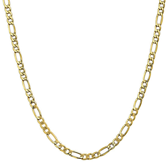 10K Gold 16 Inch Semisolid Figaro Chain Necklace