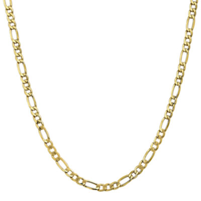 10K Gold 18 Inch Semisolid Figaro Chain Necklace