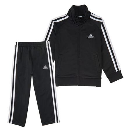 adidas Toddler Boys 2-pc. Track Suit, 3t , Black