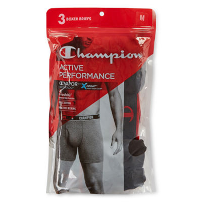 Champion Active Performance 3 Pair Boxer Briefs