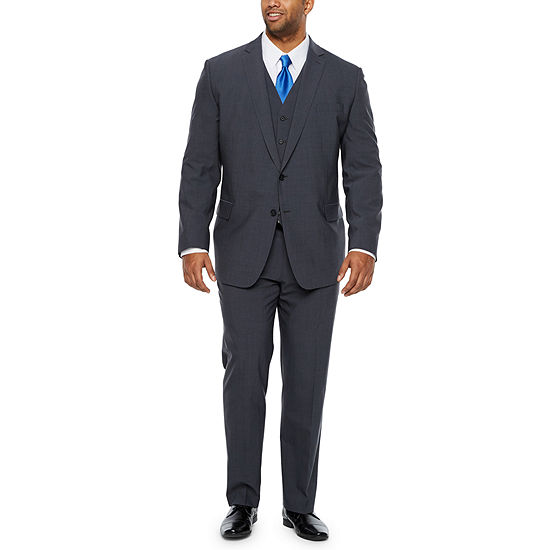 Claiborne Gray Texture Big and Tall Fit Suit Separates