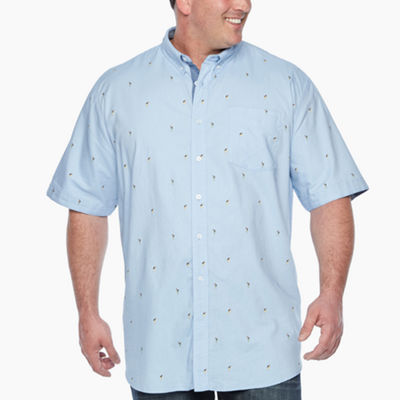 Jmco Mens Short Sleeve Button-Front Shirt Big and Tall