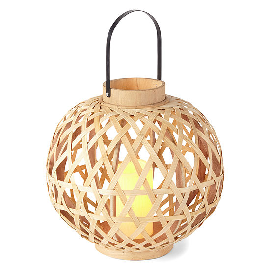 Outdoor Oasis Large Wood LED Outdoor Lantern