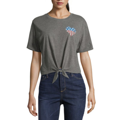 City Streets Heart Tie Front Tee - Juniors