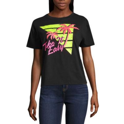 """Arizona """"Take It Easy"""" Graphic T-Shirt- Juniors"""