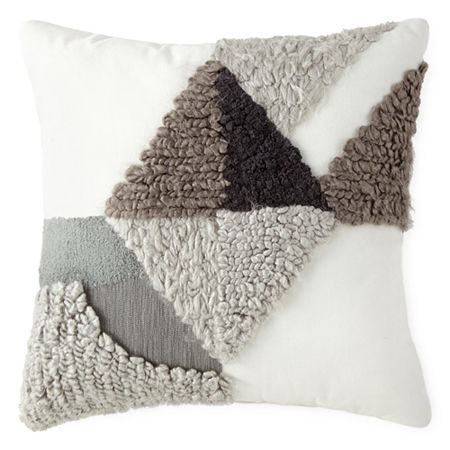 JCPenney Home Chadwick Square Throw Pillow, One Size , Gray