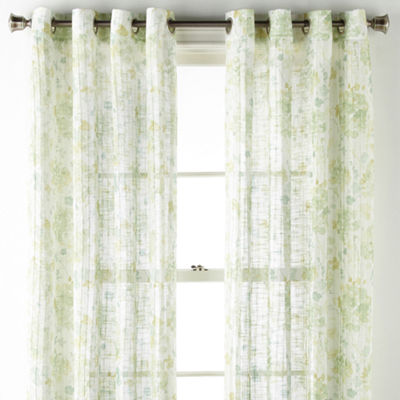JCPenney Home Rebecca Grommet- Top Curtain Panel