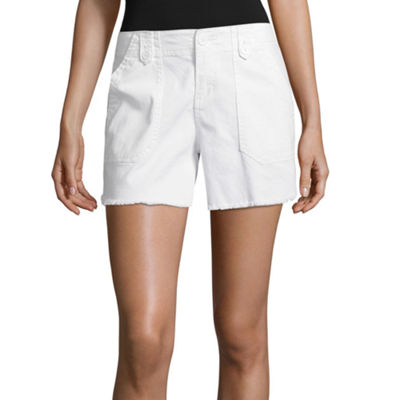 Supplies By Unionbay Careen Fray Hem Shorts