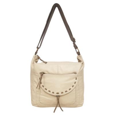 St. John's Bay® Washed Flap Pocket Hobo Bag