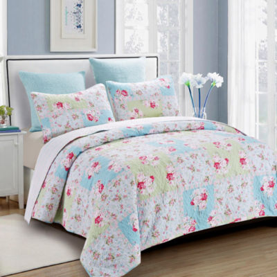 Hedaya Home Rose Garden Quilt Set