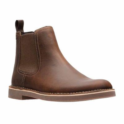 Clarks Mens Bushacre Hill Chelsea Boots Slip-on