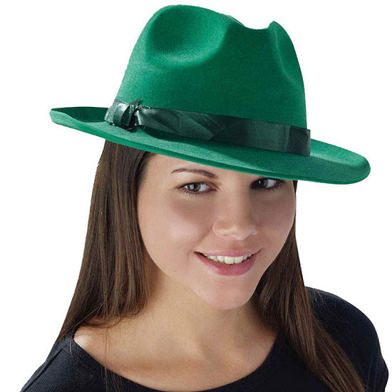 Deluxe Green Fedora Dress Up Accessory